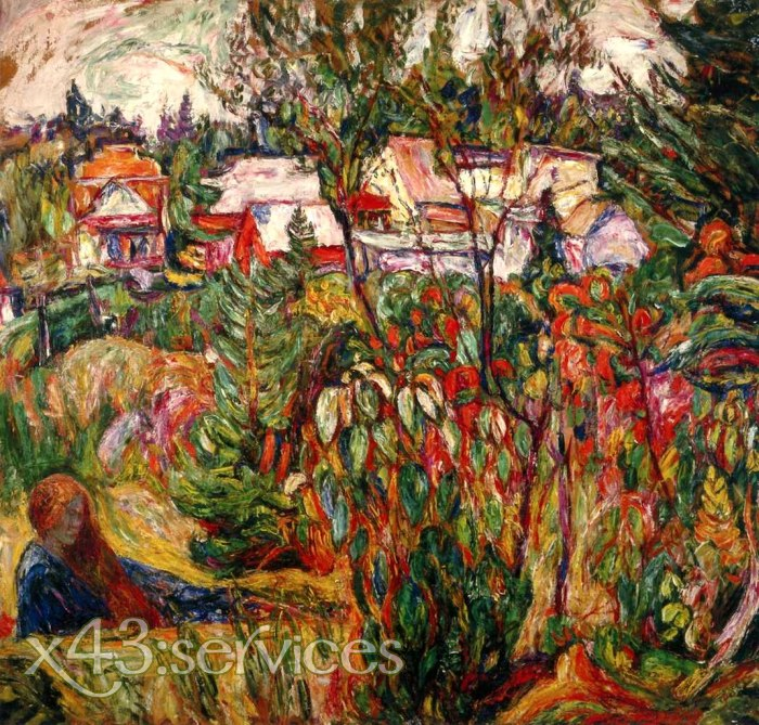 Abraham Manievich - Auf dem Lande Herbst Kanada - In the Country Autumn Canada