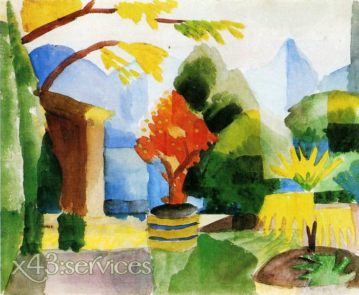 August Macke - Garten in Hilterfingen