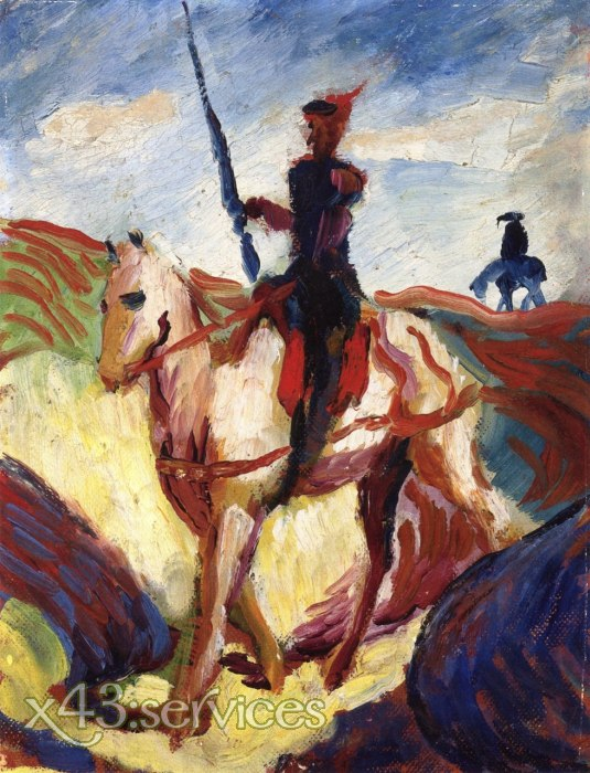 August Macke - Don Quixote