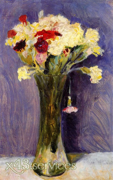 August Macke - Nelken in gruener Vase