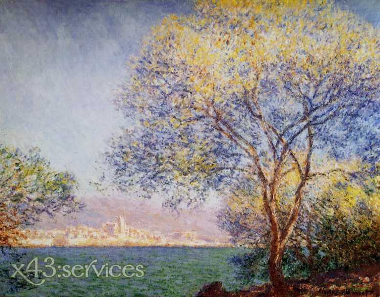 Claude Monet - Antibes am Morgen