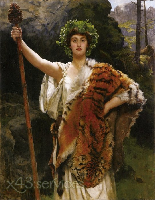 John Collier - Die Priesterin des Bacchus - The Priestess of Bacchus