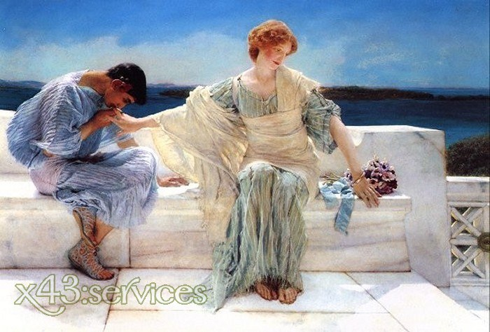 Sir Lawrence Alma-Tadema - Ask Me No More - Frag mich nicht mehr