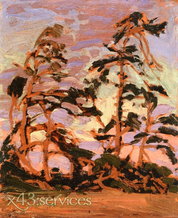 Tom Thomson - Abend auf der Foehreninsel - Evening on Pine Island