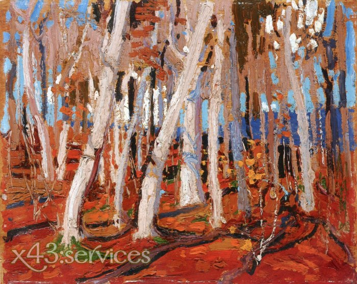Tom Thomson - Ahornwald kahle Staemme - Maple Woods Bare Trunks