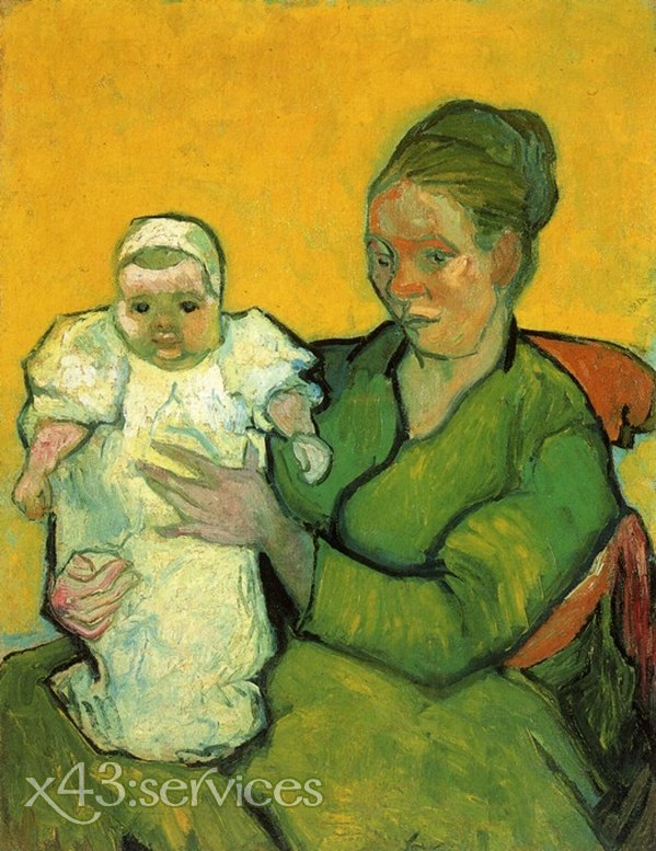 Vincent van Gogh - Mutter Roulin mit ihrem Baby 2