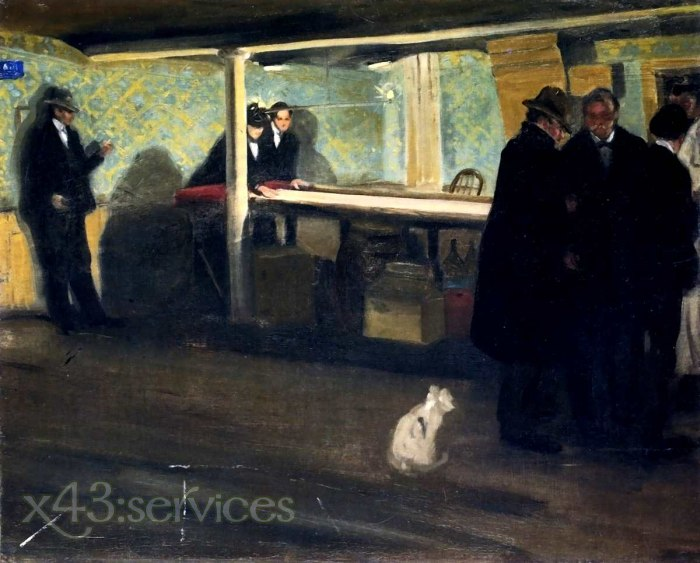 Alfred Henry Maurer - Abend im Club - Evening at the Club