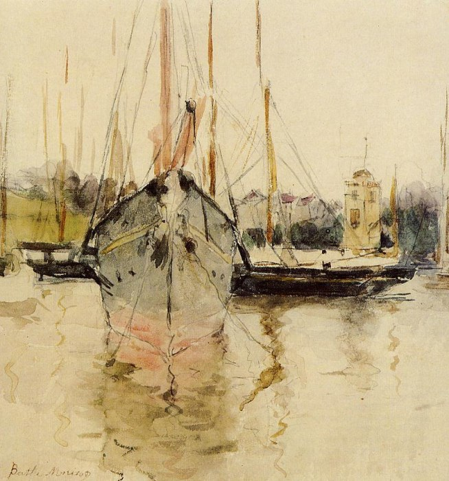 Berthe Morisot - Boote Eintritt ins Medina in der Isle of Wight - Boats Entry to the Medina in the Isle of Wight