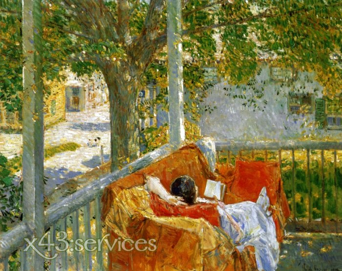 Childe Hassam - Couch af der Veranda - Couch on the Porch Cos Cob