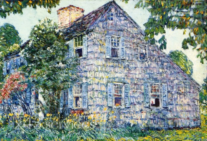 Childe Hassam - Altes Haus - Old House East Hampton