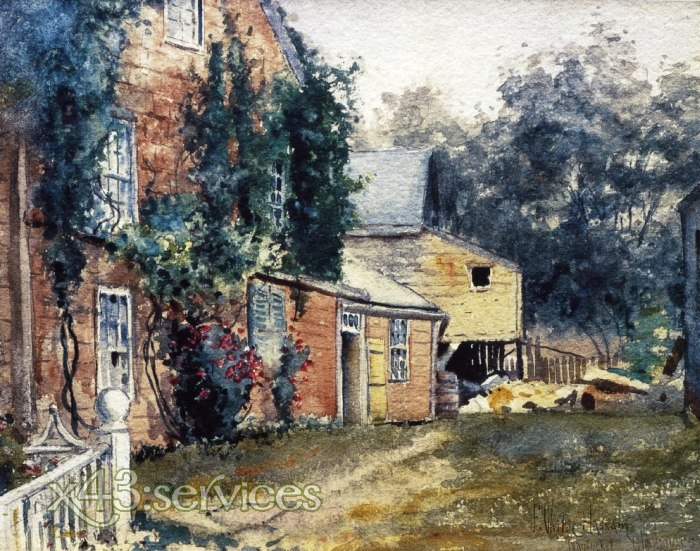 Childe Hassam - Altes Haus - Old House Nantucket