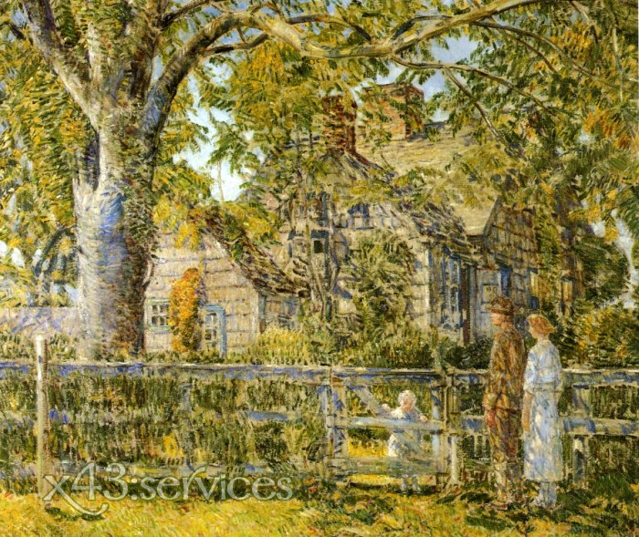 Childe Hassam - Altes Mulford Haus - Old Mulford House East Hampton 2
