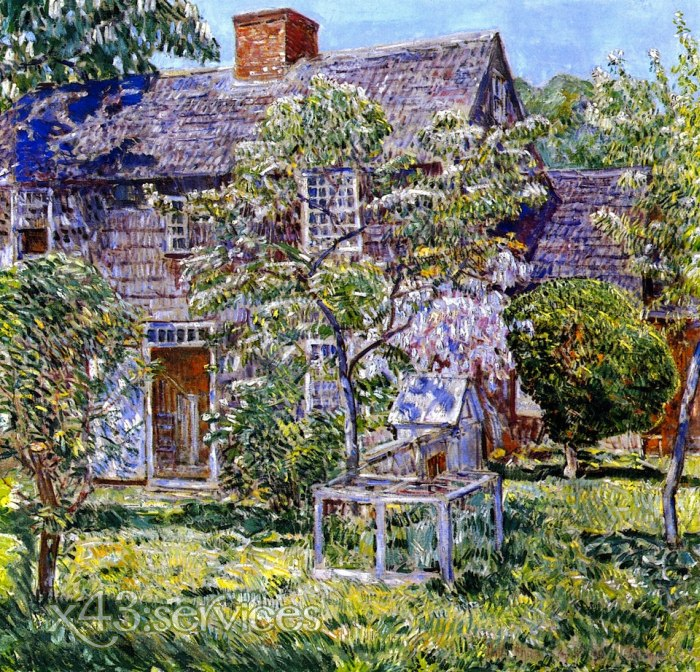 Childe Hassam - Altes Mulford Haus - Old Mulford House East Hampton