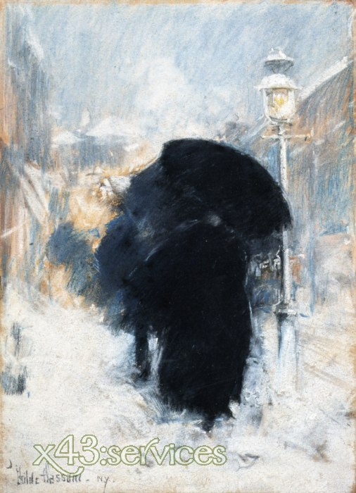 Childe Hassam - A New York Blizzard