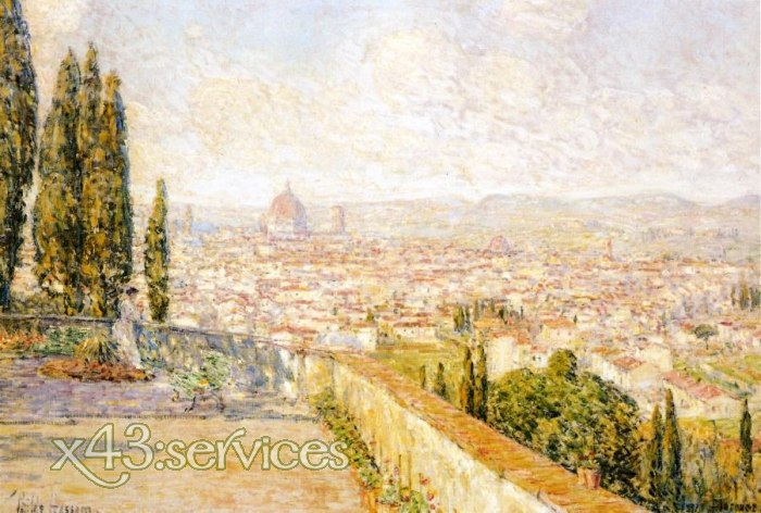 Childe Hassam - Blick auf Florenz - View of Florence from San Miniato