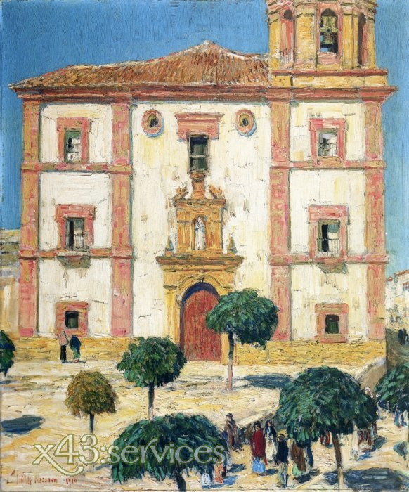 Childe Hassam - Kathedrale in Ronda - Cathedral at Ronda
