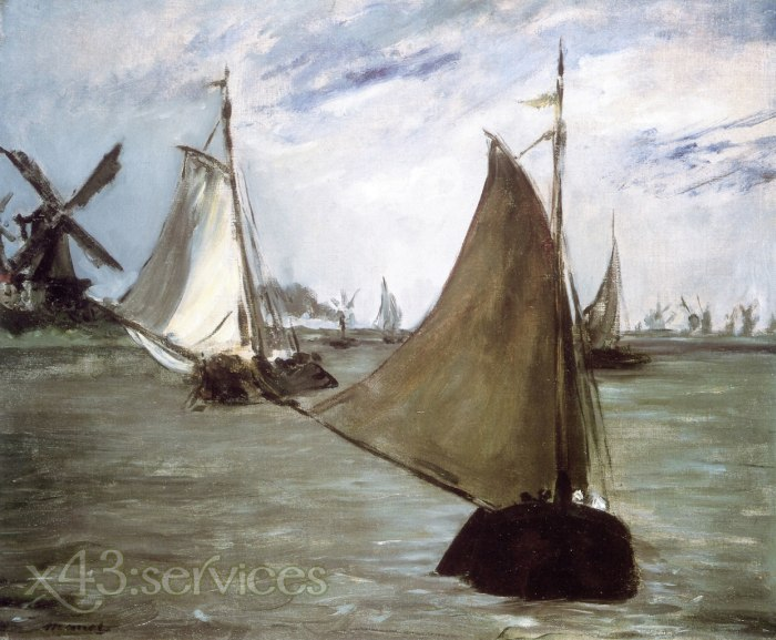 Edouard Manet - Ansicht in Holland - View in Holland