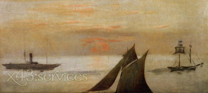 Edouard Manet - Boote am Meer bei Sonnenuntergang - Boats at Sea Sunset