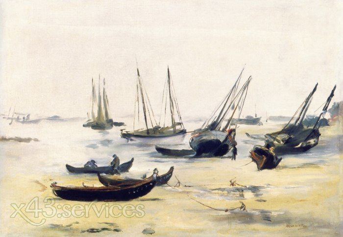 Edouard Manet - Boote bei Ebbe in der Bucht von Arachon - Boats at Low Tide on the Bay of Arachon