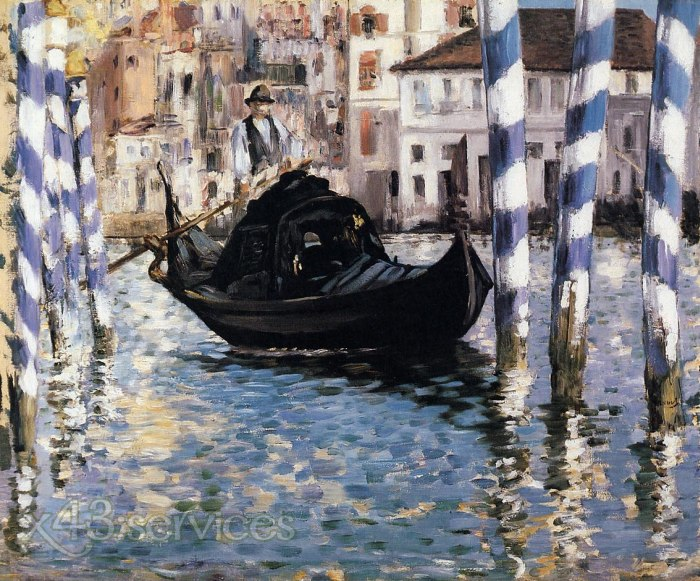 Edouard Manet - Der Canal Grande Venedig - The Grand Canal Venice 1