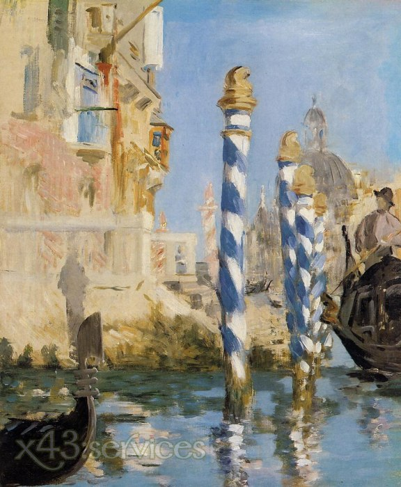 Edouard Manet - Der Canal Grande Venedig - The Grand Canal Venice