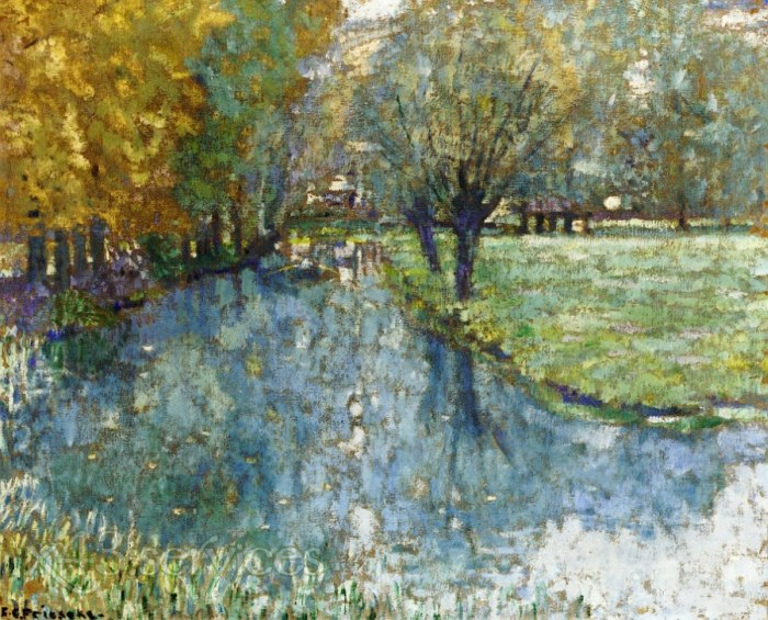 Frederick Carl Frieseke - Auf dem Fluss Giverny - On the River Giverny