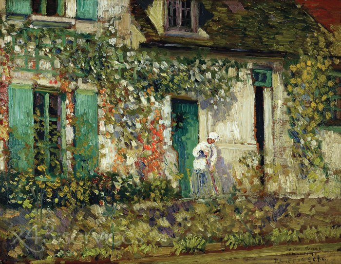 Frederick Carl Frieseke - Das Haus in Giverny - The House in Giverny 1