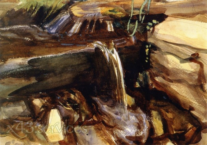 John Singer Sargent - Alpiner Trog - Mountain Trough