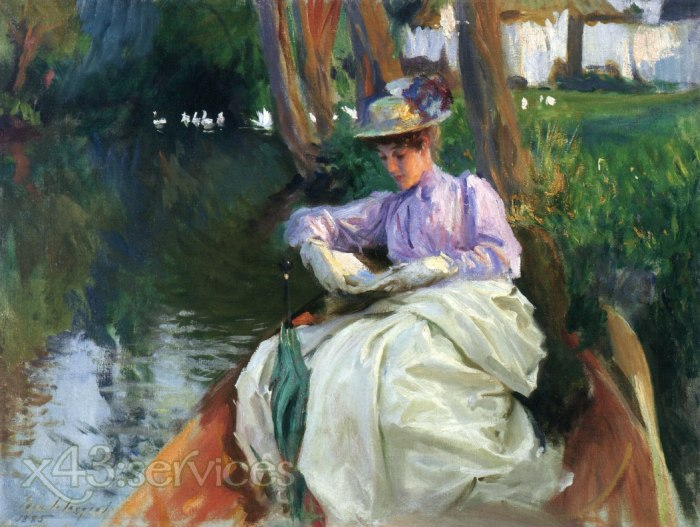 John Singer Sargent - Am Fluss - By the River 1