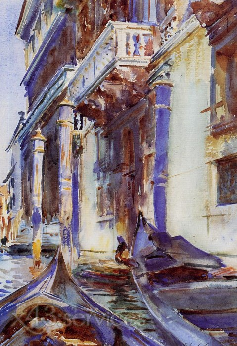 John Singer Sargent - Am Canal Grande - On the Grand Canal