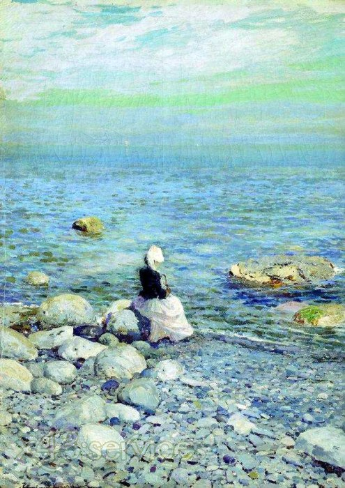 Konstantin Alexeyevich Korovin - Am Ufer des Schwarzen Meeres - On the Shore of the Black Sea
