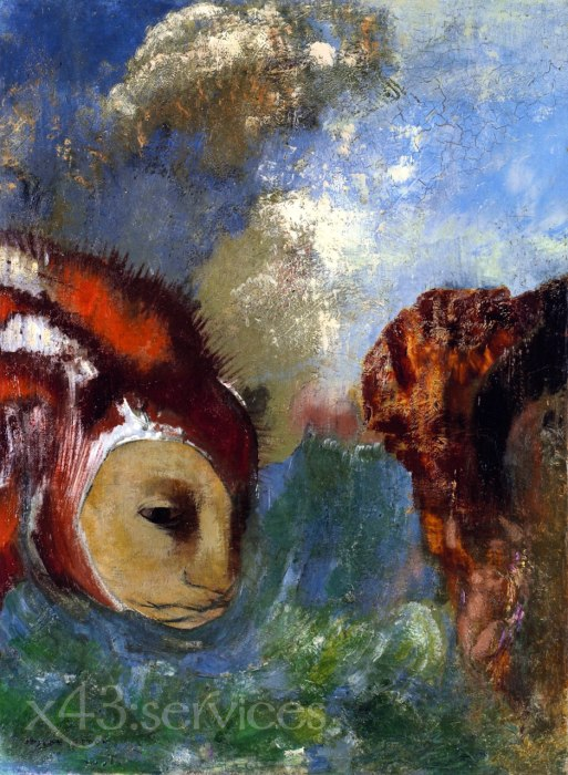 Odilon Redon - Angelika und der Drache - Angelica and the Dragon