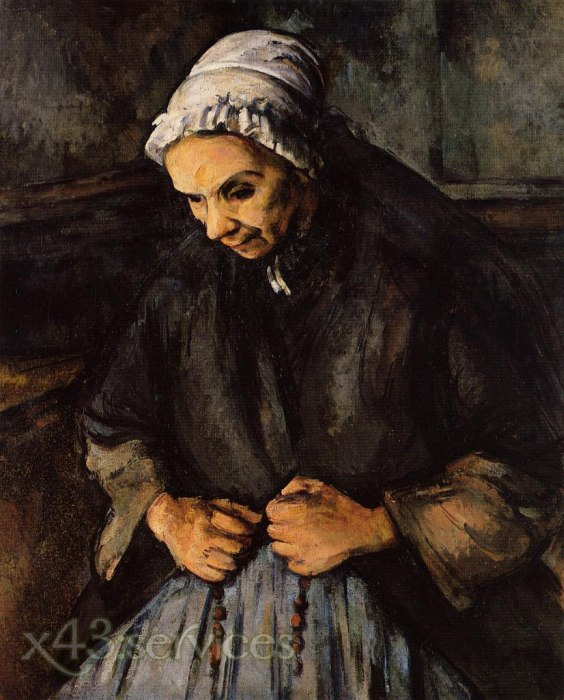 Paul Cezanne - Alte Frau mit Rosenkranz - Old Woman with a Rosary