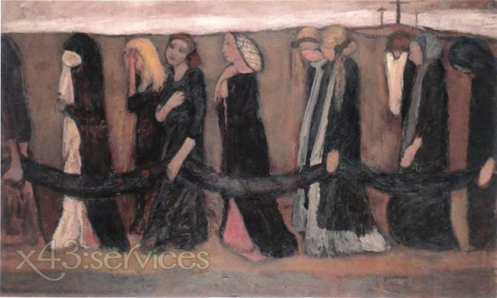 Paula Modersohn-Becker - Prozession der klagenden Frauen - Procession of wailing women