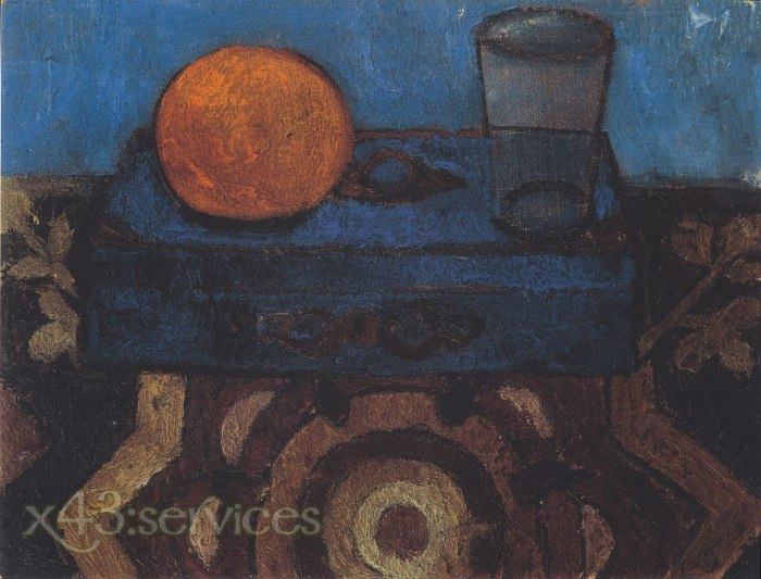 Paula Modersohn-Becker - Stillleben mit blauer Schachtel - Still Life with Blue Box