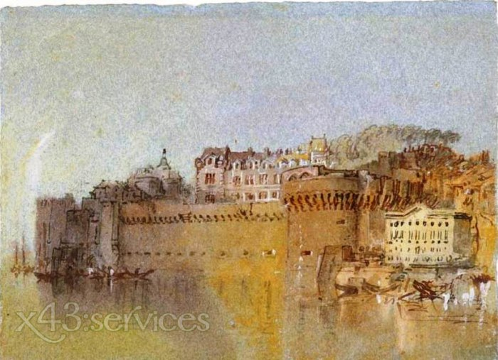 William Turner - Ancenis das Schloss - Ancenis the Castle