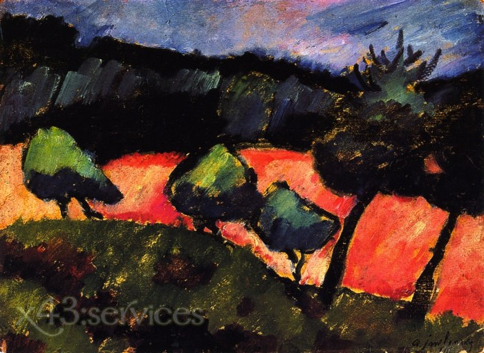 Alexej von Jawlensky - Baeume und Duenen bei Prerow - Trees and Dunes at Prerow