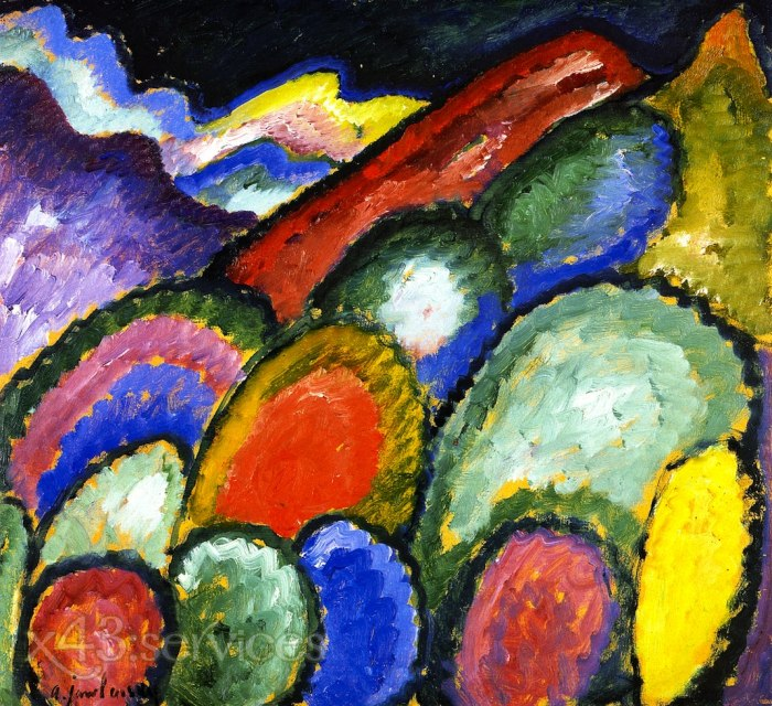 Alexej von Jawlensky - Berge und Baeume - Mountains and Trees