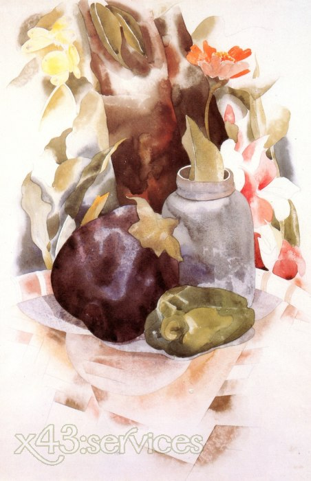 Charles Demuth - Auberginen und Paprika - Eggplant and Green Pepper