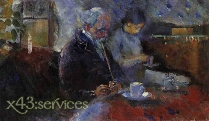 Edvard Munch - Am Kaffeetisch - At the Coffee Table