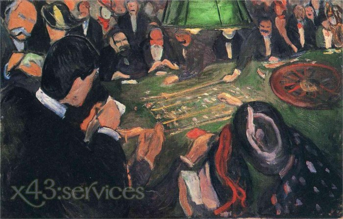 Edvard Munch - Am Roulettetisch in Monte Carlo - At the Roulette Table in Monte Carlo