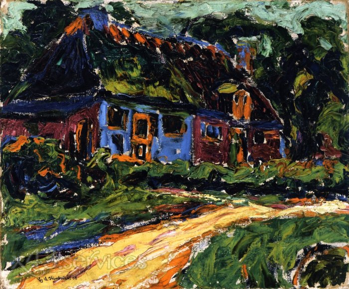Ernst Ludwig Kirchner - Altes Haus Fehmarn