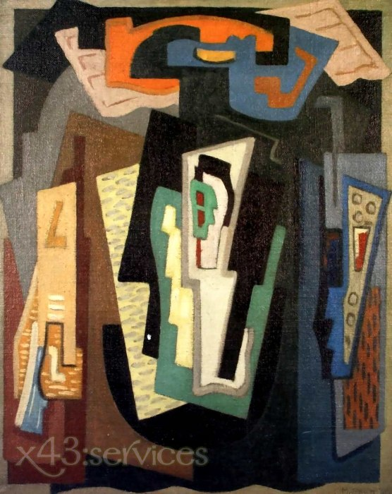 Mainie Jellett - Abstrakte Komposition - Abstract Composition 1924-1