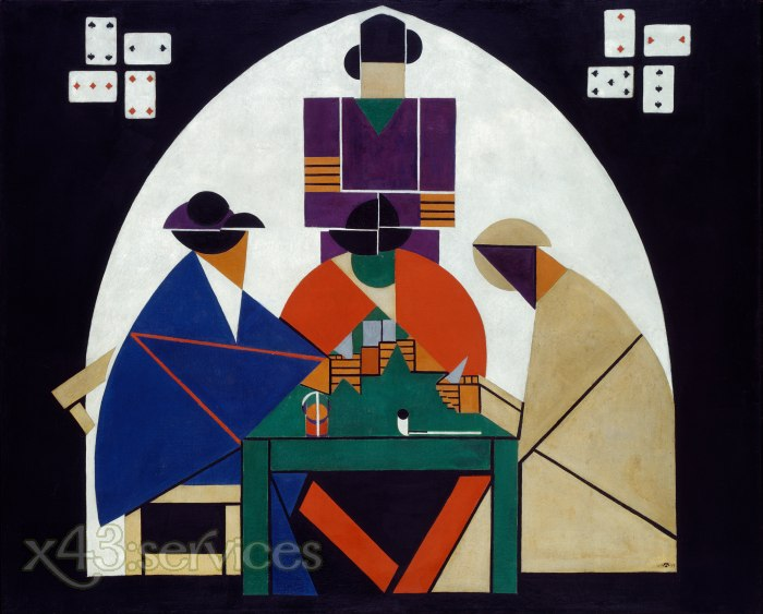 Theo van Doesburg - Kartenspieler - Card players