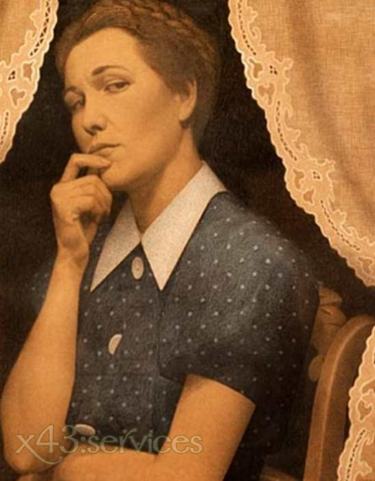 Grant Wood - Die Perfektionistin - The Perfectionist