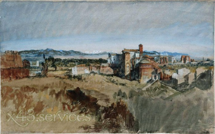 William Turner - Blick auf Santi Giovanni e Paolo aus dem Palatin - Rome View of Santi Giovanni e Paolo from the Rom Palatine Hi