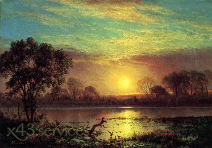 Albert Bierstadt - Abend Owens See Kalifornien - Evening Owens Lake California