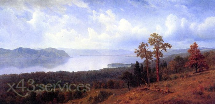 Albert Bierstadt - Ansicht Hudson - View of the Hudson Looking Across the Tappan Zee Towards Hook Mountain