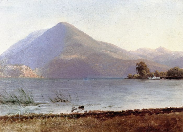Albert Bierstadt - Auf dem Hudson - On the Hudson