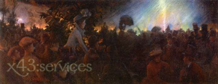 Charles Courtney Curran - Abendbeleuchtungen bei der Pariser Ausstellung - Evening Illuminations at the Paris Exposition
